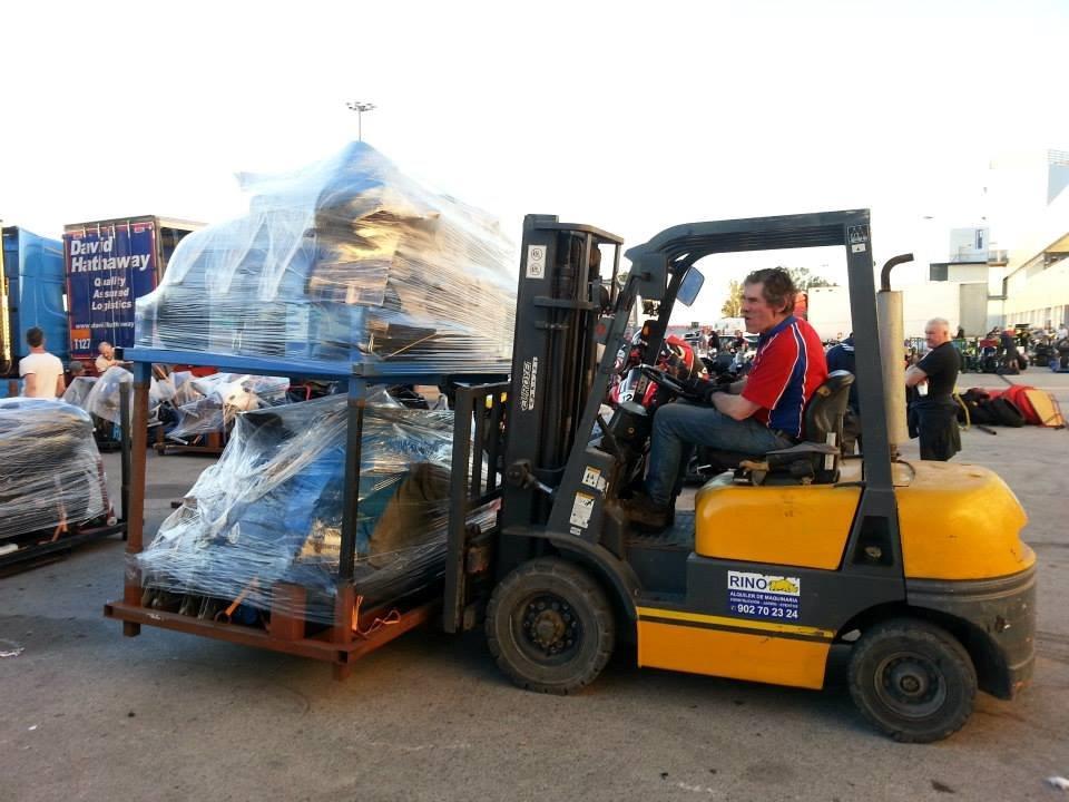 professioneel trasnsport naar track holiday